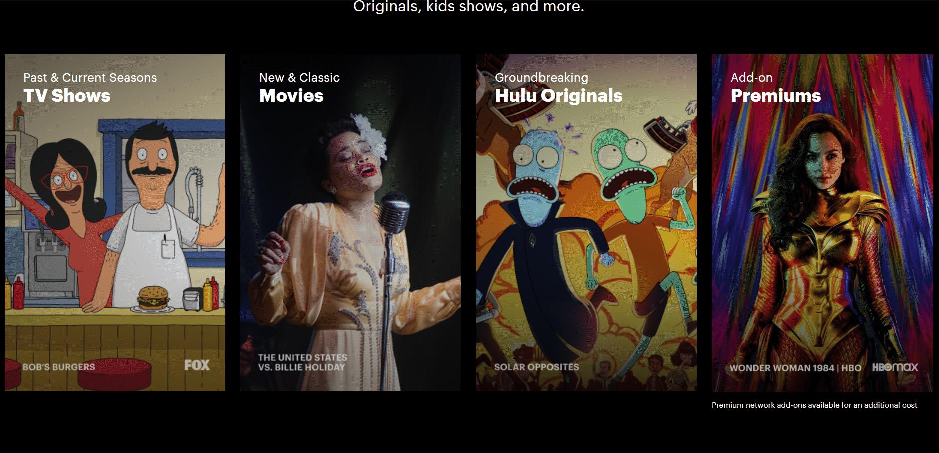Hulu Startseite