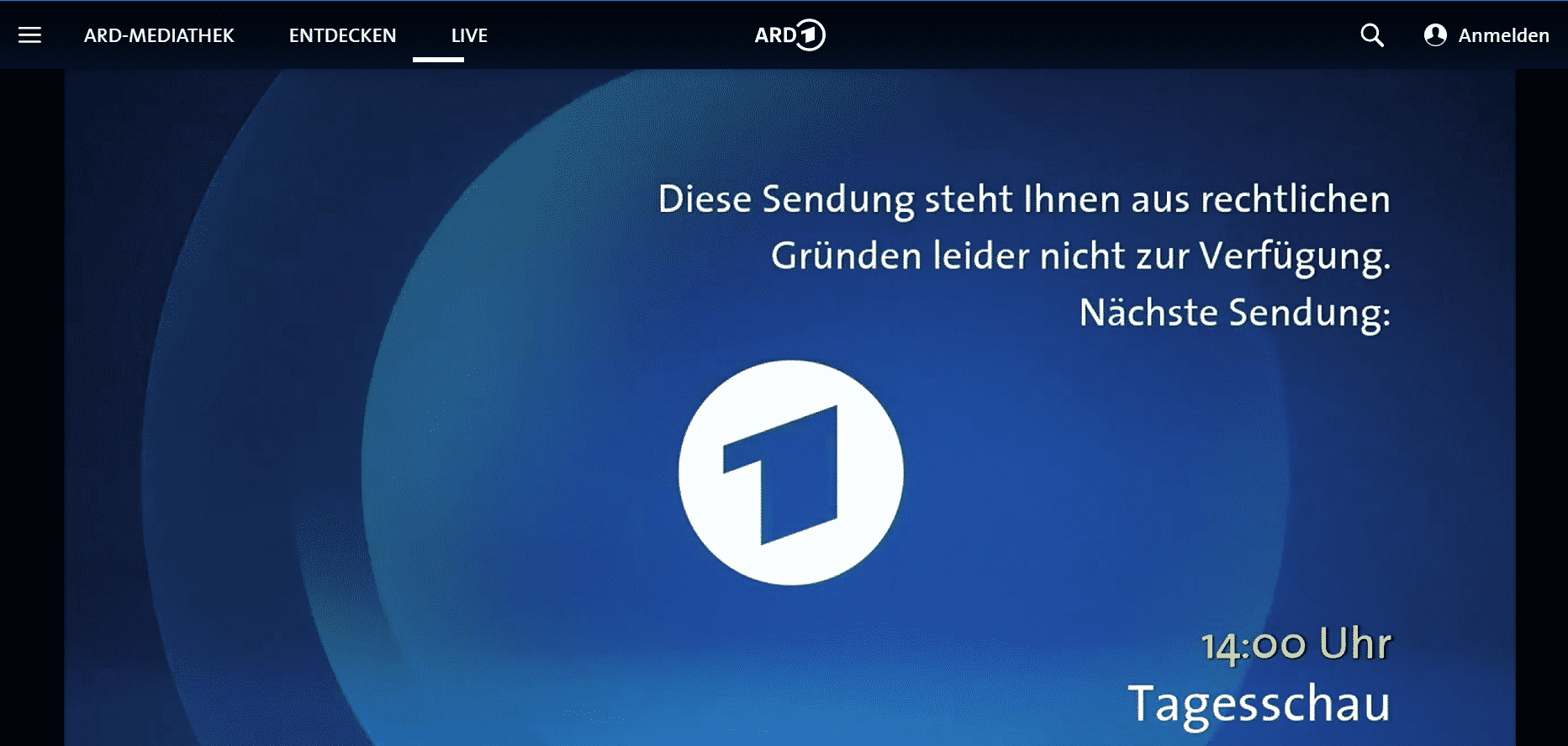 ARD Mediathek im Ausland - Sperre
