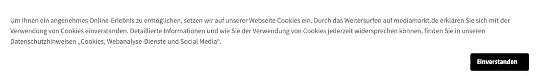 Example: Advertising banner from mediamarkt.de