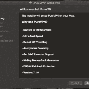 PureVPN Einführung - Installation für Mac