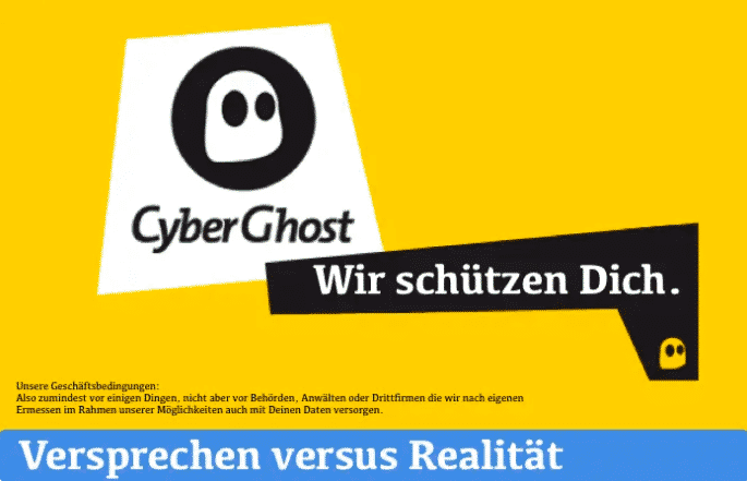 The CyberGhost VPN advertising promises