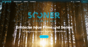 Sooner Streaming Webseite