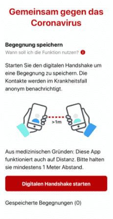 Digitaler Handshake bei österreichischer Stopp Corona App