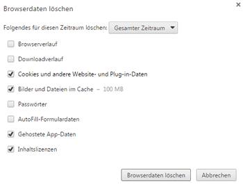 Delete browser data manually