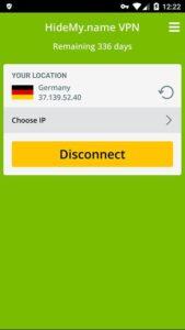 Schon bist du mit deinem HideMy.name VPN Android verbunden!