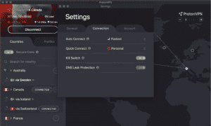 ProtonVPN Kill Switch window view