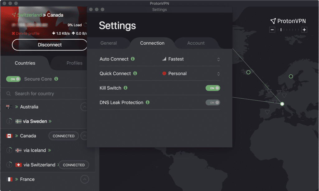PrótonVPN Kill Switch