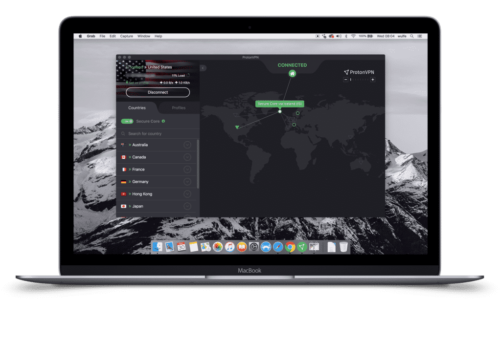 ProtonVPN Secure Core