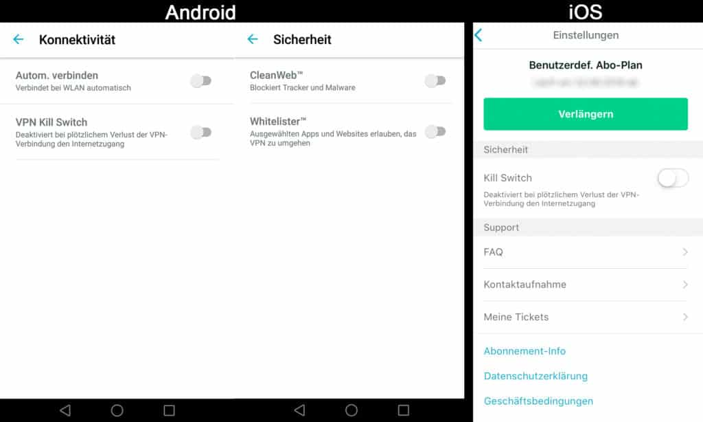 Surfshark-Unterschied-Android-iOS