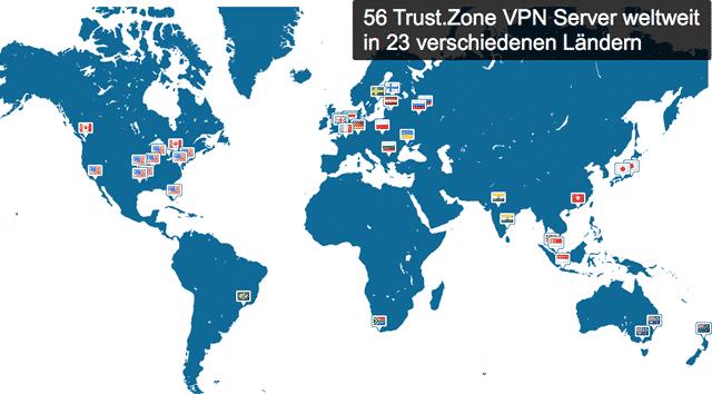 Trust.Zone VPN διακομιστή