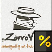 ZorroVPN - Ano 1 por US $ 108 (US $ 9 / seg)