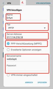 Anleitung: Android & Perfect-Privacy VPN  mit PPTP Protokoll einrichten