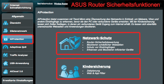 ASUS Router security features AI Protect