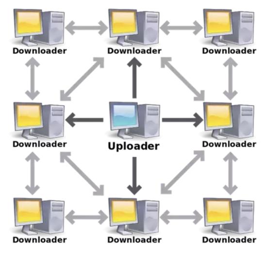 Schemat protokołu BitTorrent