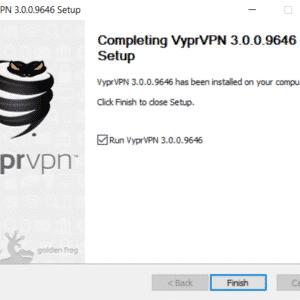 Installation von VyprVPN abschließen