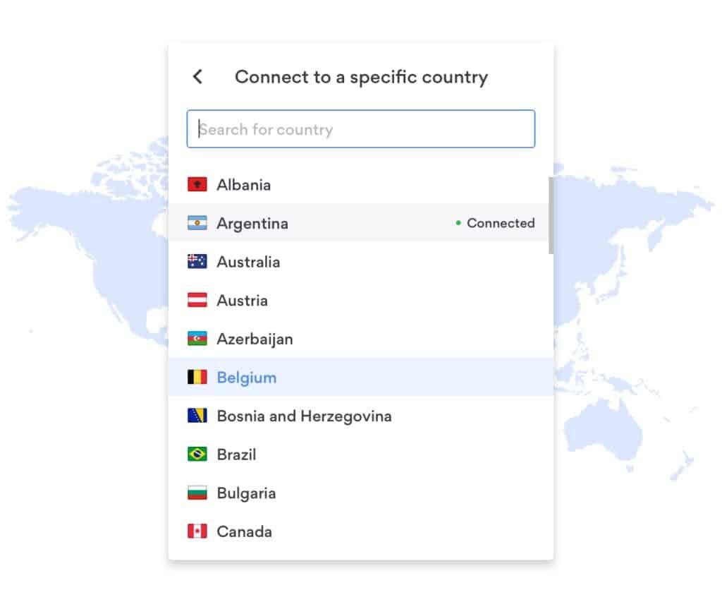 liste des pays d'extension