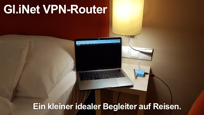 Gl.iNet VPNRouter on the road