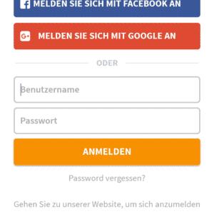 Log in op de GooseVPN app