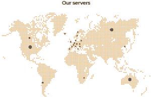Server-Standorte von GooseVPN