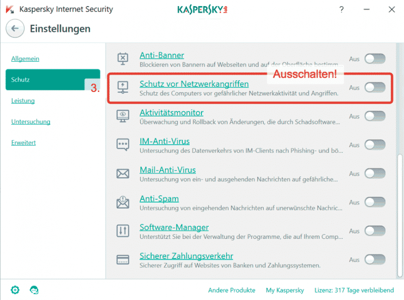Kaspersky Firewall and Perfect-Privacy VPN Manager 2