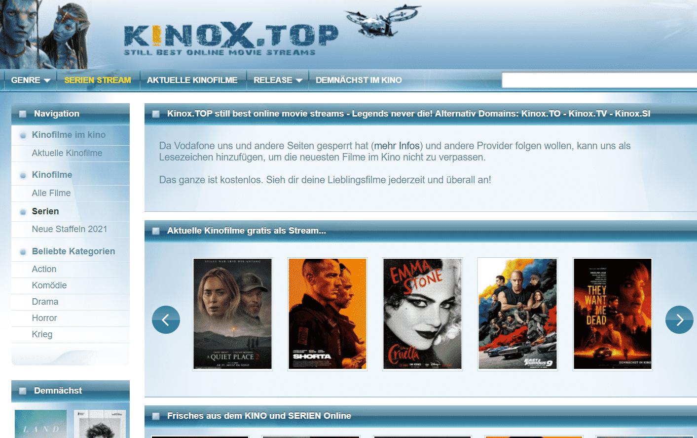 kinoX Seite
