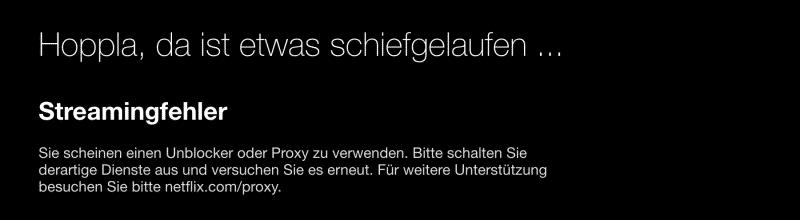 Netflix blockiert die meisten VPN-Anbieter:Fehlercode: M7111-1331-5059