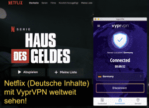 Netflix with VyprVPN see