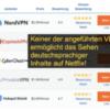 Netflix-bypass op vpnmentor.com