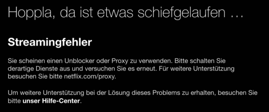 Netflix streaming error code: M7111-5059