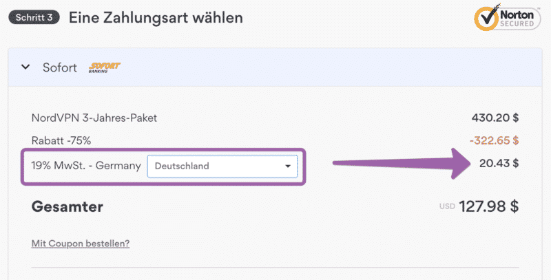 VAT for Germany (NordVPN)