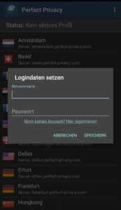 perfectprivacy android app  e