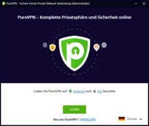 PureVPN Software auf Deutsch