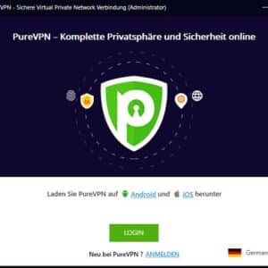 PureVPN Software auf Deutsch