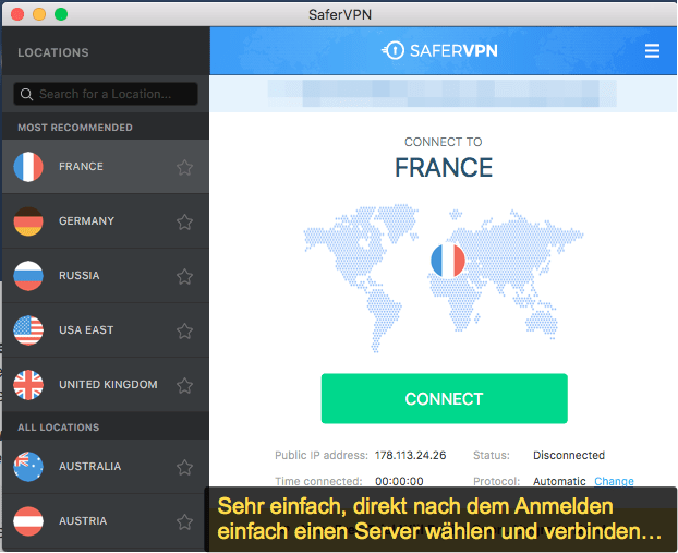 SaferVPN Software