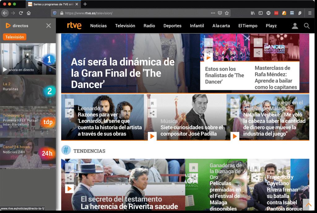 Spanische TV Sender (RTVE) in Deutschland sehen. 5