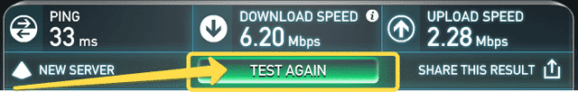 "Speedtest.net ""TEST AGAIN"""