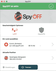 SpyOFFVPN CONNECTED