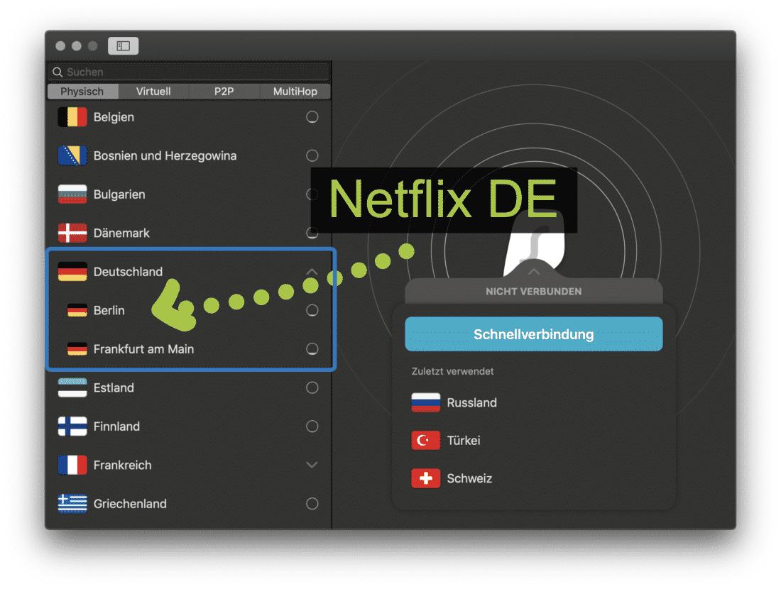 Surfshark VPN Berlin Server für Netflix