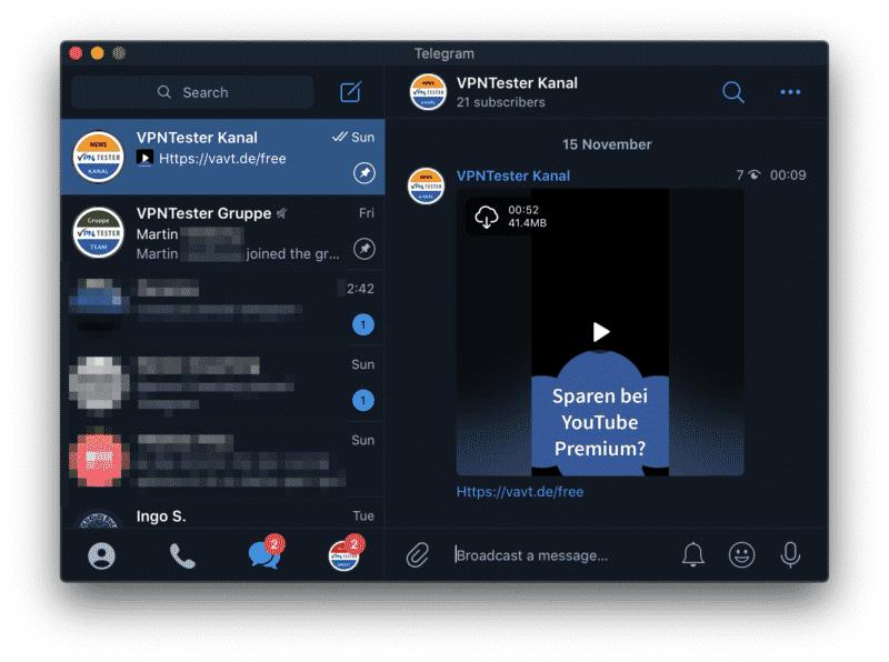 VPNTESTER Telegram Kanal