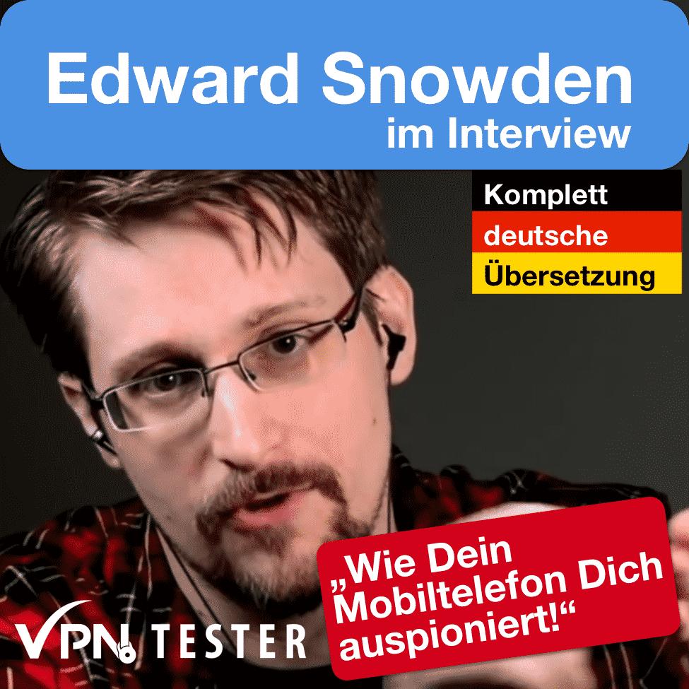 Edward Snowden Interview in Deutsch