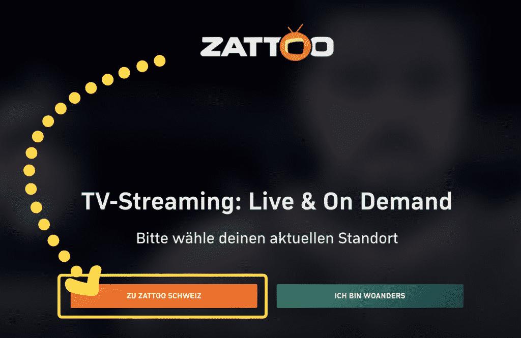 Einen neuen Zattoo Zugang registrieren