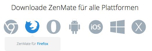 ZenMate Anwendungen